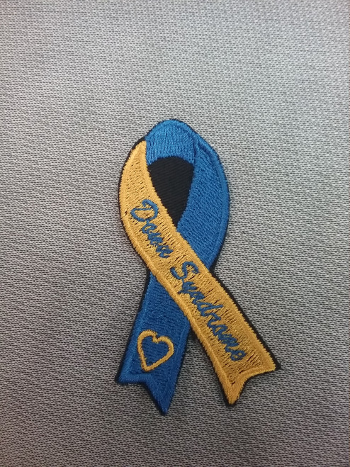 3 inch Down Syndrome awareness ribbon