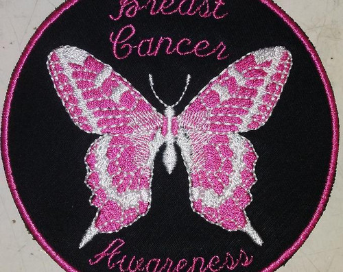 Breast cancer awareness butterfly patch
