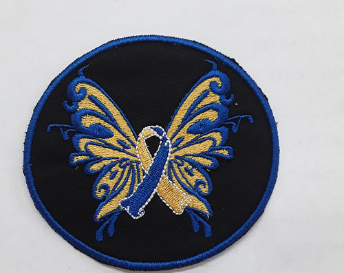Down Syndrome butterfly awareness patch