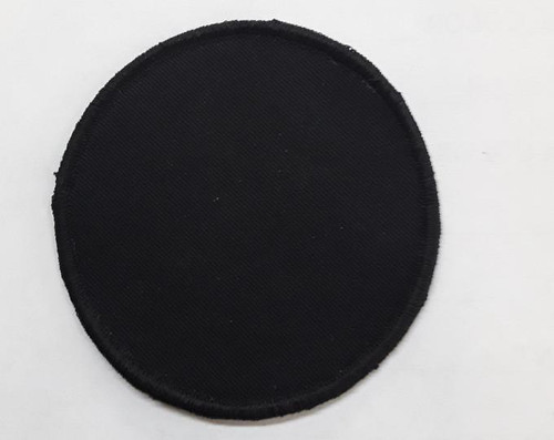3 inch round Black blank patch