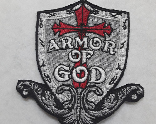 4 inch x 2 3/4 inch Armor of God Patch