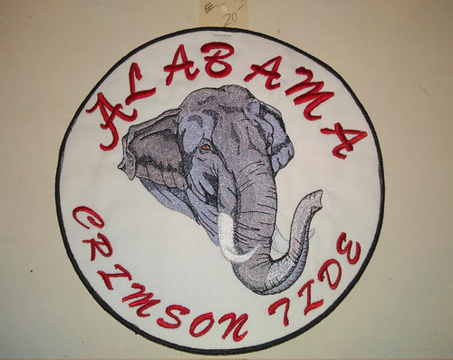 Alabama Crimson Tide Elephant back patch