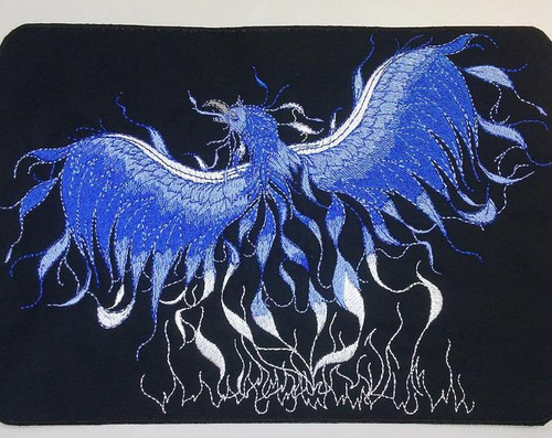 Blue phoenix back patch