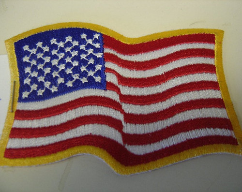Wavy USA flag
