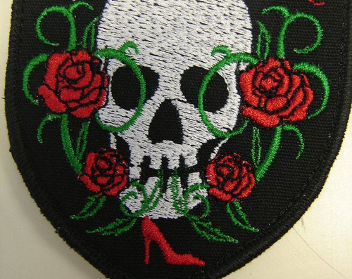 Lady Rider Skull Patch