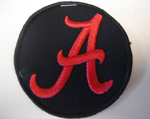 "Red ""A"" Patch  3"" x 3.25"" circle  Black border"