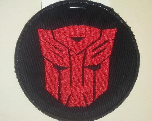 "Transformers Autobot symbol patch  3.5"" circle"