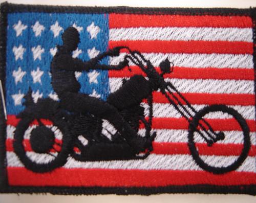 usa biker flag patch