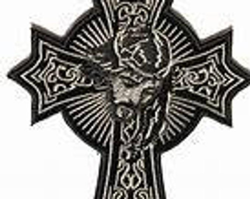 3inch x 4 inch Jesus on cross patch