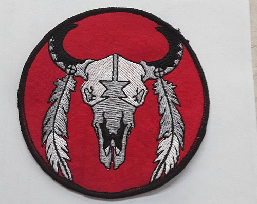 3 inch buffalo native American patch