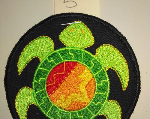 "Southwestern turtle  3"" circle"