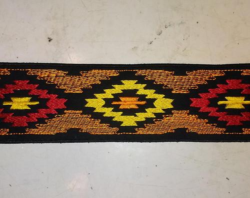 Native American orange leg strips Comes in a set of 2  10 inch x 2.5 inch
