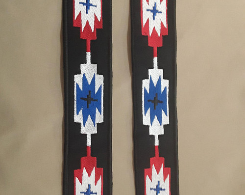 2 each native American, south western arm or leg strip patches  12x2 inches