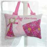 Girls Personalized Tooth Fairy Pillow - Peace