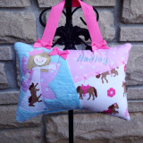 Girls Personalized Tooth Fairy Pillow - pony