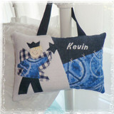 Personalized Boys Tooth Fairy Pillow - tie dye peace
