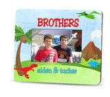 Picture frame - personalized brothers - dinosaurs