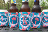 Koozies - Beach Vacation - Sand Dollar - Teal Coral - set