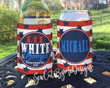 Fourth of July Koozies - Red White and Boozed - yard