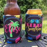 Koozies - Beach Vacation - Good Vibes and Sunshine - set