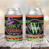 Koozies - Halloween - Stripes - Drink Up Witches