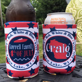 Fourth of July Koozies - Red White and Boozed - boat