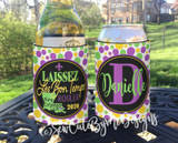 Mardi Gras New Orleans Vacation Koozies or coolies - Laissez Les Bon Temps Rouler - State - Dots