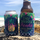 Beach Vacation Koozies or coolies - Mexico Koozies - Day Drinking in Paradise