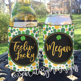 St. Patrick's Day Koozies or coolies - Dots - St Pats Koozies