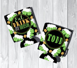 St. Patrick's Day Koozies or coolies - Eat Drink and Be Irish - Green Beer