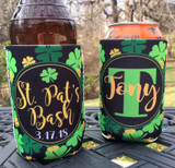 St. Patrick's Day Koozies or coolies - Shamrocks