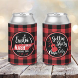 Bachelorette Koozies - Buffalo Plaid - Getting Shitty in Music City