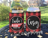 Red Buffalo Plaid - Nashville Koozie - State
