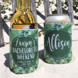 Beach Bachelorette Vacation Koozies or coolies - Tropical 2
