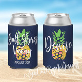 Personalized Beach Koozies - Pineapple