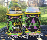 Mardi Gras New Orleans Vacation Koozies or coolies - Sippin Pretty in VooDoo City