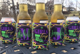 Mardi Gras New Orleans Bachelor Party Koozies or coolies - girls trip - state - graphics