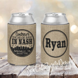 Bachelor Party Nashville Koozies - Burlap