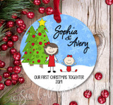 Christmas Ornament – Our first Christmas together - Light skin