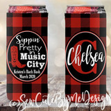 Nashville Vacation Slim Koozies - Getting Shitty in Music City