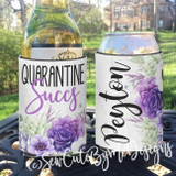 Neoprene Koozies - Quarantine Succs - Social Distancing Gift - Succulents Girls Night In Zoom Party