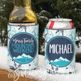 Mountain Vacation Koozies - Personalized Can Coolers - Ski Family Vacation
