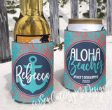 Beach Vacation Koozies - Coral - Aloha Beaches