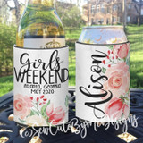 Bachelorette Party or Girls Weekend Vacation Getaway Koozies - Watercolor