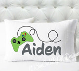 Personalized camping pillowcase - boys video game remote controller gamer pillowcase