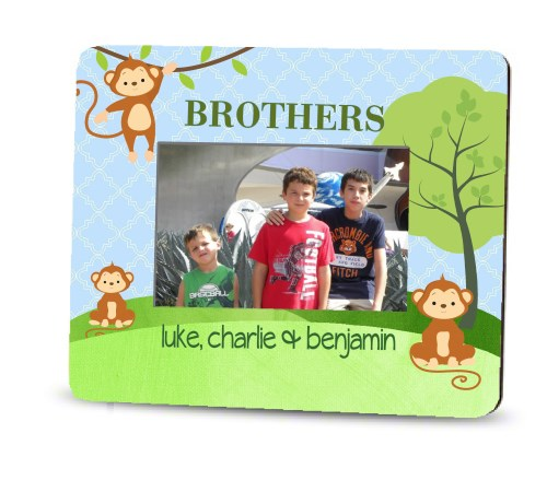 Picture Frame – Personalized brothers / Monkeys 3