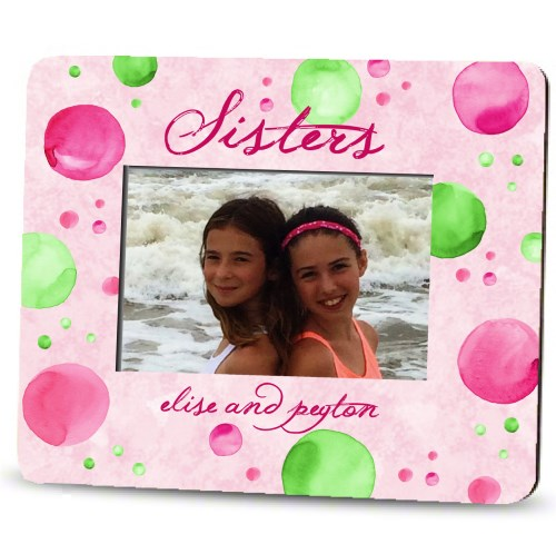 Picture Frame – Personalized sisters / watercolor dots