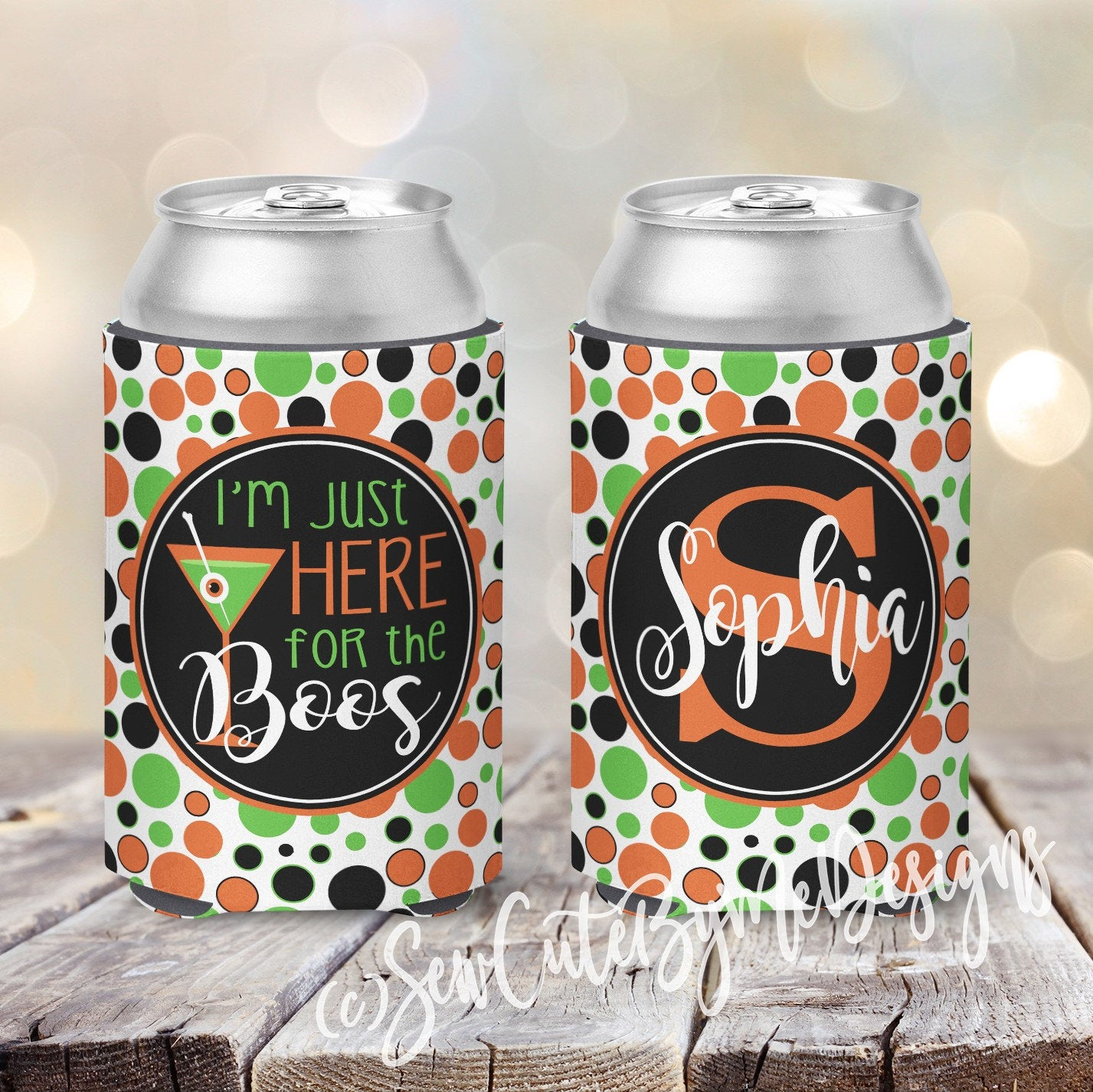 Koozies - Halloween - Dots - I'm Just Here for the Boos