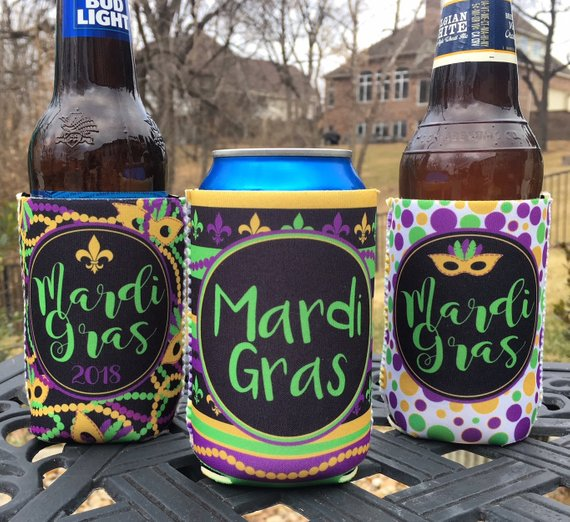 Mardi Gras New Orleans Vacation Koozies or coolies - mixed set