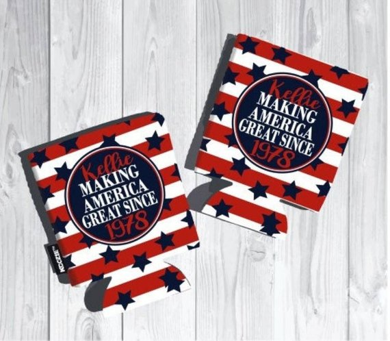 Making American Great Since ? Birthday Koozies - flat